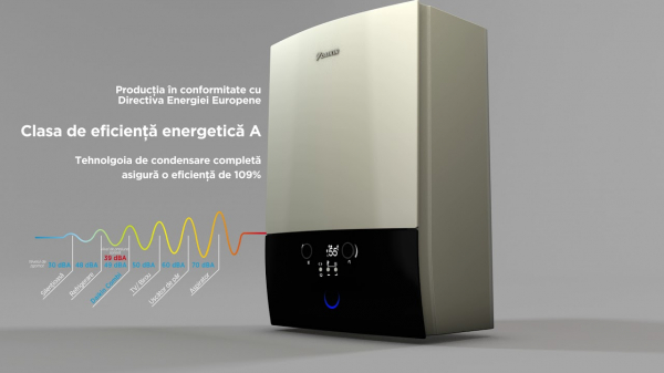 Centrala termica in condensare Daikin D2CND028A1A 28 kW, kit evacuare inclus, ACM instant 2