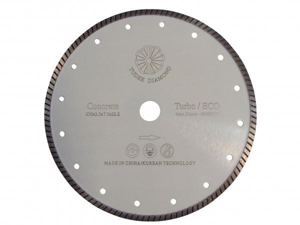 Disc diamantat Tudee 115X22.2mm debitare beton dur 0