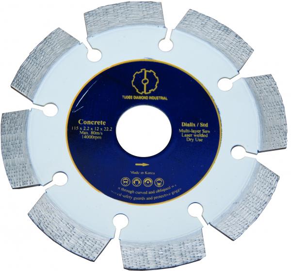 Disc diamantat Tudee 115X22.2mm debitare beton dur armat 0