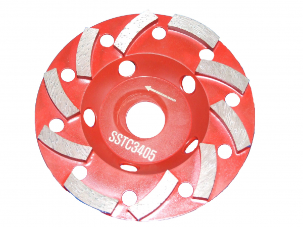 Disc diamantat Tudee 125X22.2mm slefuire beton dur 0