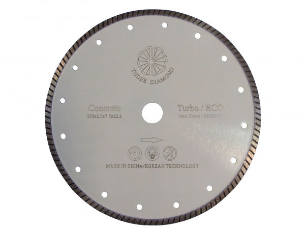 Disc diamantat Tudee 230X22.2mm debitare beton dur 0