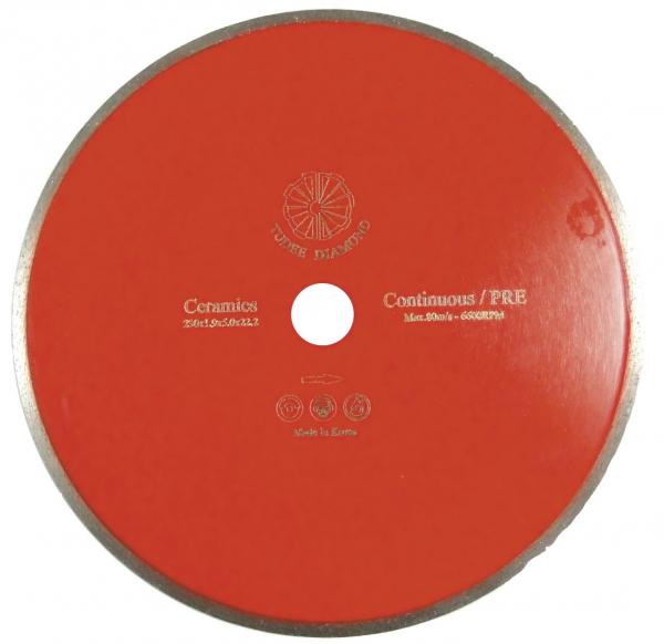 Disc diamantat Tudee 230X22.2mm debitare placi ceramice 0