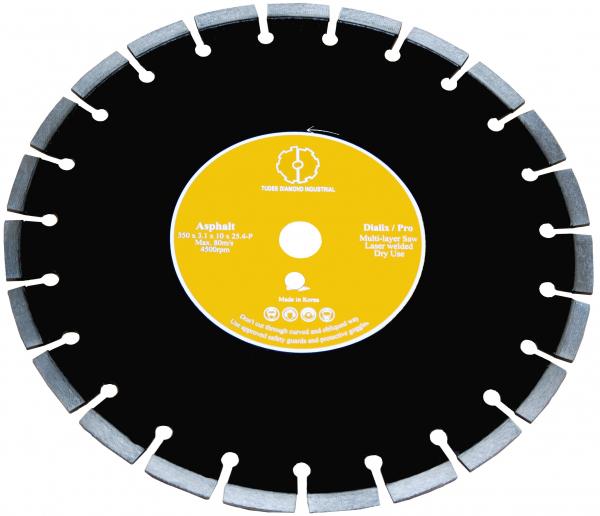 Disc diamantat Tudee 400X25.4mm debitare asfalt [0]