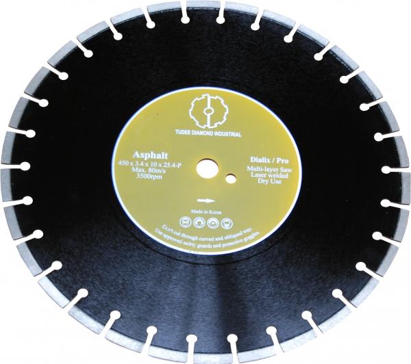 Disc diamantat Tudee 500X25.4mm debitare asfalt 0