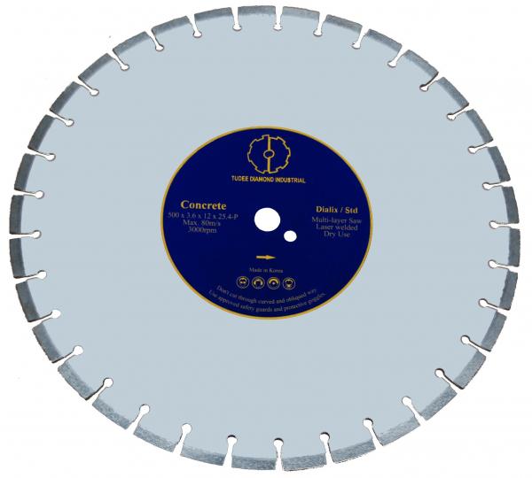 Disc diamantat Tudee 500X25.4mm debitare beton dur 0