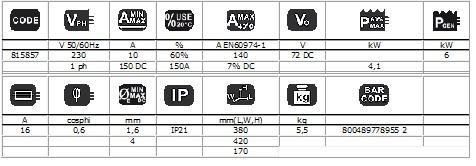 FORCE 165 + MASCA CRISTALE LICHIDE - Invertor sudura TELWIN 2