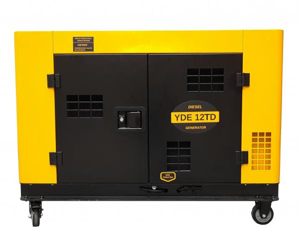 Generator insonorizat Stager YDE12TD, 3000rpm, diesel, monofazat 0