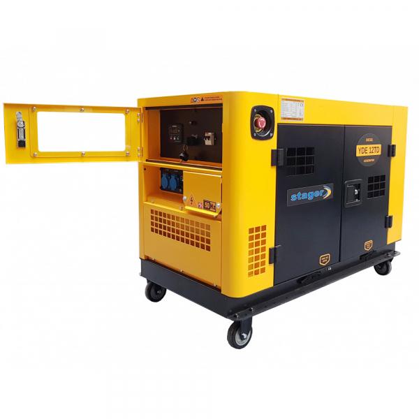 Generator insonorizat Stager YDE12TD, 3000rpm, diesel, monofazat 1