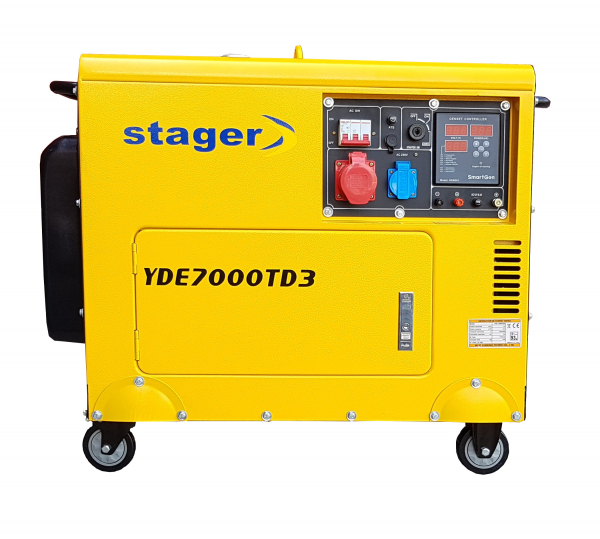Generator insonorizat Stager YDE7000TD3, diesel, trifazat [0]