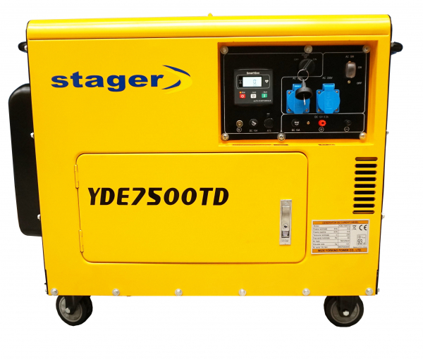 Generator insonorizat Stager YDE7500TD, diesel, monofazat 0