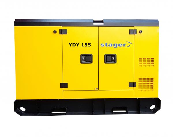 Generator insonorizat Stager YDY15S, silent 1500rpm, diesel, monofazat 0