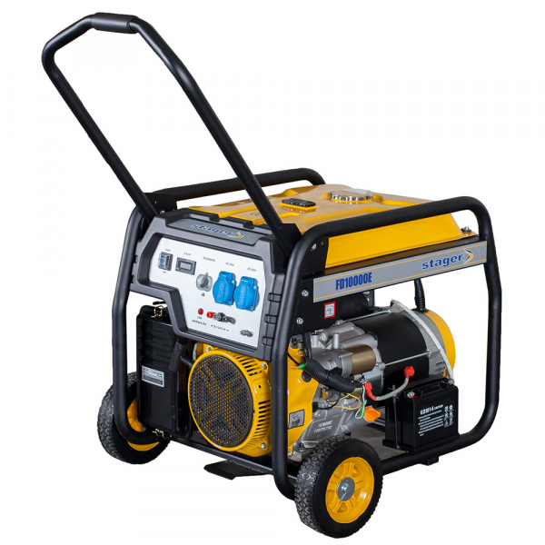Generator open frame Stager FD 10000E 8kW, monofazat, benzina, pornire electrica [0]