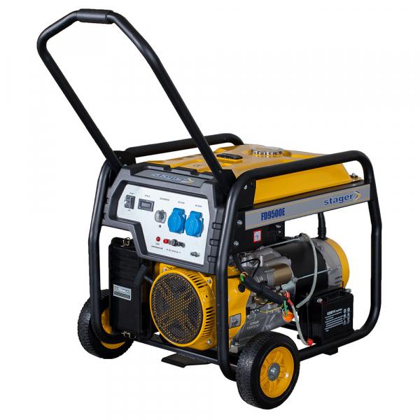 Generator open frame Stager FD 9500E 7kW, monofazat, benzina, pornire electrica 0
