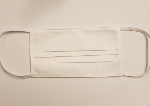 Masca de protectie reutilizabila din bumbac 100%, alba 0