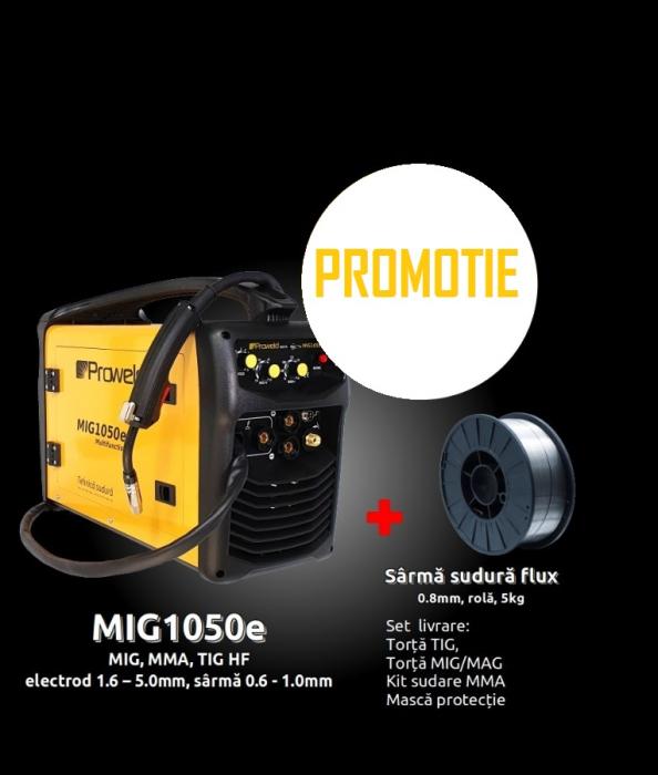 Pachet promotional Invertor sudura MIG-MAG / MMA / TIG Proweld MIG1050E, 250A  + sarma sudura flux 0.8 mm, 5 kg [0]