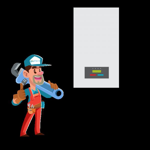Montaj centrala termica pe gaz Bucuresti si Ilfov 30-35  kW, demontare si gaura de cos incluse in pret [0]