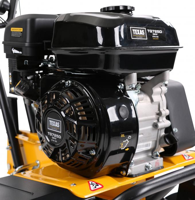 Texas TX611TG, motocultor profesional, transmisie dublu arbore, benzina, 4kW, latime 300-850mm, adancime 330mm, 2 viteze, garantie pe viata cutite [4]