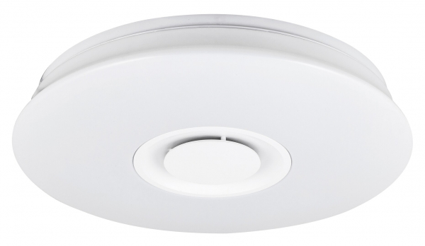 Plafoniera LED RGB cu boxa Rabalux Murry 4541, 24W, 1440 lm, dimabil, Bluetooth, Telecomanda, Alb 1
