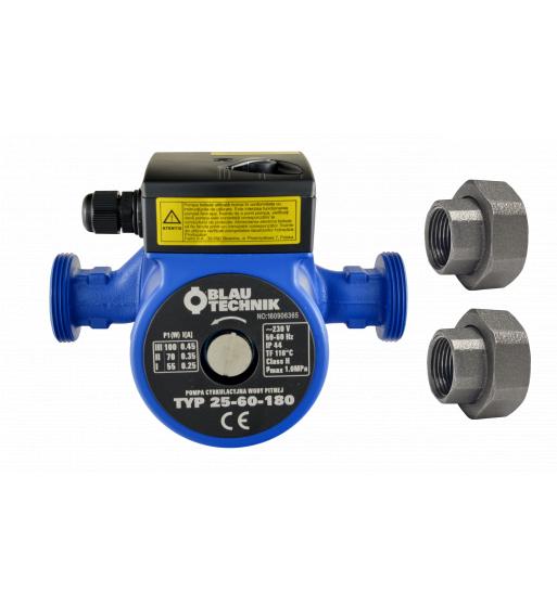 Pompa circulatie apa potabila BlauTechnik 25-60/180, racorduri incluse 0