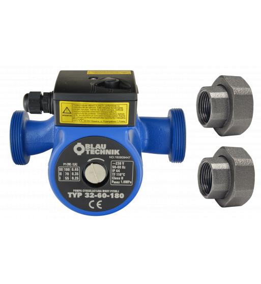 Pompa circulatie apa potabila BlauTechnik 32-60/180, racorduri incluse 0