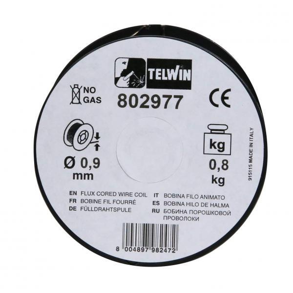 Sarma sudura cu flux Telwin 0.9 mm rola 0.8 kg - pentru sudura fara gaz 1