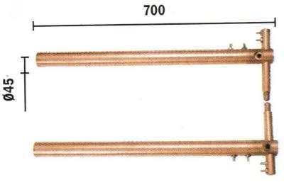 Set brate 700mm cu electrozi drepti TELWIN 1