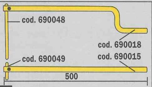 Set portelectrozi profilati 500mm cu electrozi drepti pentru sudura in puncte TELWIN 1
