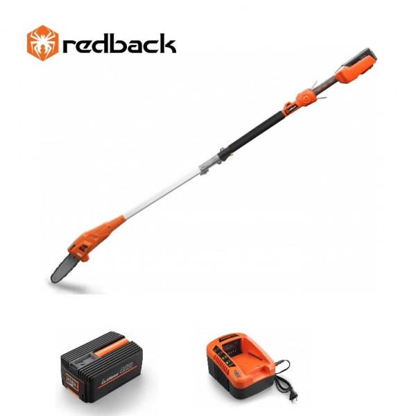 Set Redback emondor E608D 40V + acumulator Li-Ion EP40 40V/4Ah + incarcator EC20 40V/2A 0
