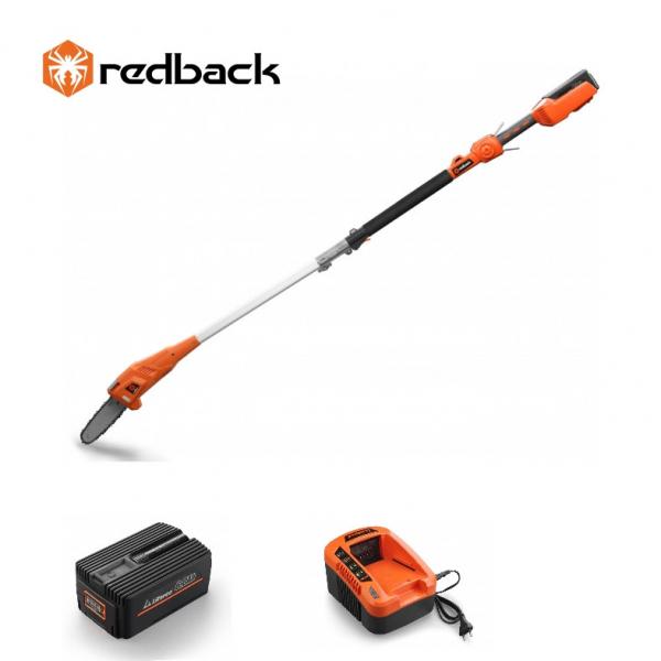 Set Redback emondor E608D 40V + acumulator Li-Ion EP60 40V/6Ah + incarcator rapid EC50 40V/5A 0