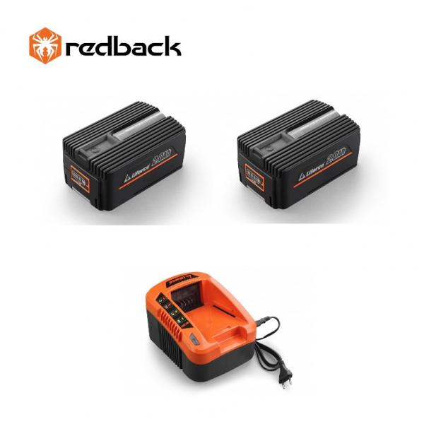 Set Redback powerpack 2 acumulatori Li-Ion 2xEP20 40V/2Ah + incarcator EC20 40V/2A 0