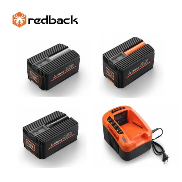 Set Redback powerpack extra 3 acumulatori Li-Ion 1xEP20 2Ah, 1xEP40 4Ah, 1xEP60 6Ah + incarcator rapid EC50 40V/5A 0