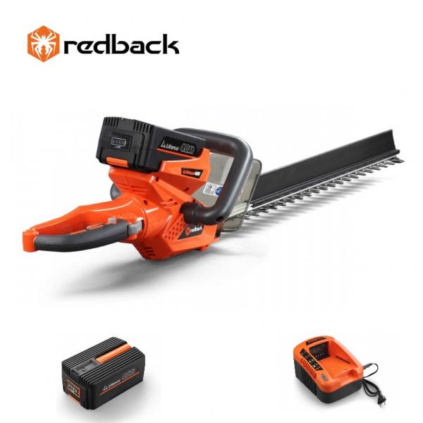 Set Redback trimer gard viu E522D 40V + acumulator Li-Ion EP40 40V/4Ah + incarcator EC20 40V/2A 0