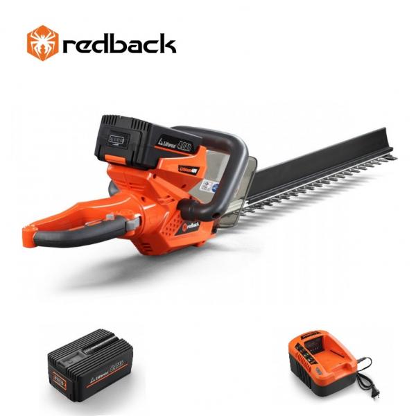Set Redback trimer gard viu E522D 40V + acumulator Li-Ion EP60 40V/6Ah + incarcator rapid EC50 40V/5A 0