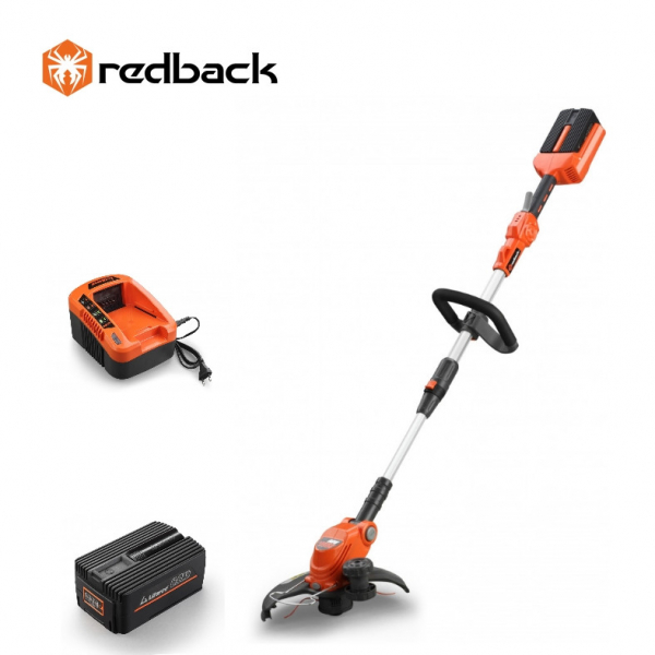 Set Redback trimer iarba E312D 40V + acumulator Li-Ion EP60 40V/6Ah + incarcator rapid EC50 40V/5A 0