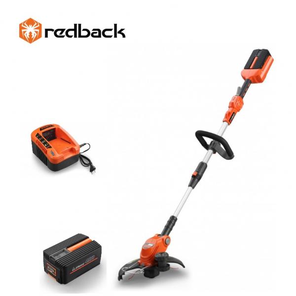 Set Redback trimer iarba E312D 40V + acumulator Li-Ion EP40 40V/4Ah + incarcator EC20 40V/2A 0
