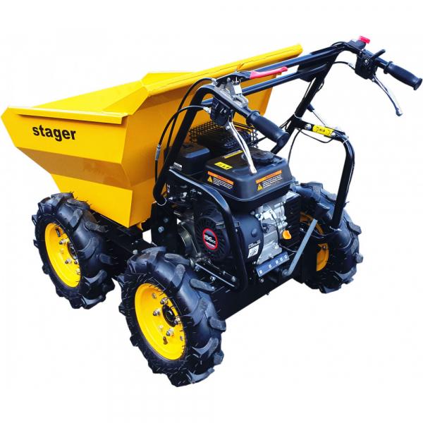 Stager RMT300 roaba cu motor termic 6.5CP, 300kg, 4 roti, basculabila, tractiune integrala, diferential [1]
