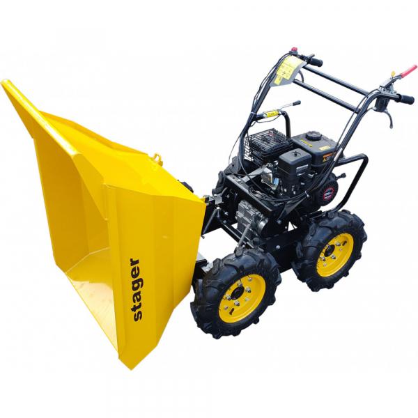 Stager RMT300 roaba cu motor termic 6.5CP, 300kg, 4 roti, basculabila, tractiune integrala, diferential [4]