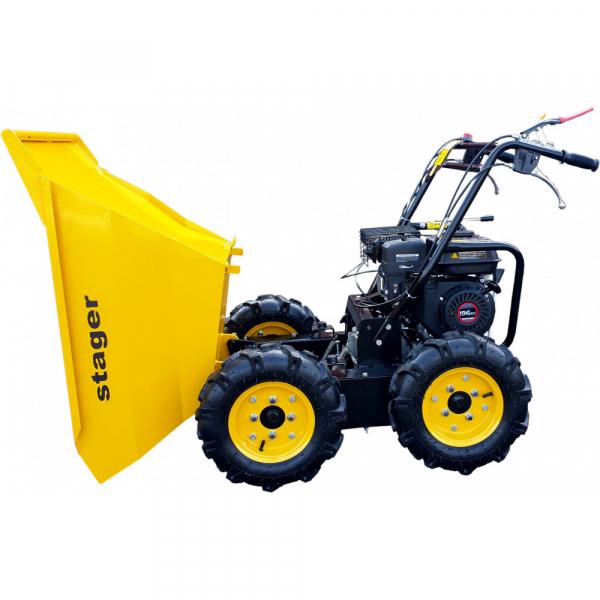 Stager RMT300 roaba cu motor termic 6.5CP, 300kg, 4 roti, basculabila, tractiune integrala, diferential [3]