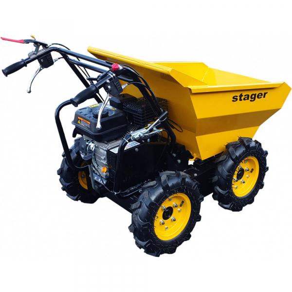Stager RMT300 roaba cu motor termic 6.5CP, 300kg, 4 roti, basculabila, tractiune integrala, diferential [0]
