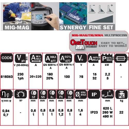 TECHNOMIG 215 DUAL SYNERGIC - APARAT DE SUDURA TELWIN tip MIG-MAG [2]