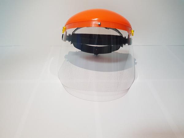 Viziera protectie fata GSHOP cu ecran transparent si cu ecran din plasa cadou 6