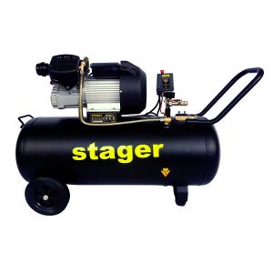 Stager HM3100V-10 compresor aer, 100L, 10bar, 356L/min, monofazat, angrenare directa