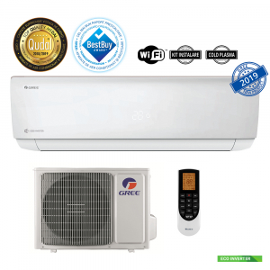 Aer conditionat inverter Gree Bora A4 Silver 12000 BTU, kit instalare inclus, A++, wifi inclus, alb0