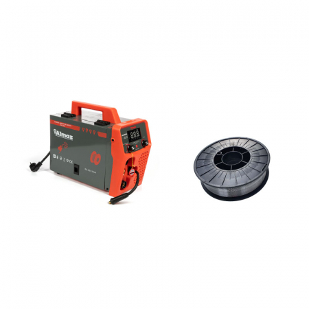 Aparat de sudura Almaz MIG 285, diametru electrod 1.6 - 3.2 mm cu sarma flux 0.8 mm, rola 5 kg0