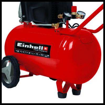 Compresor Einhell TE-AC 270/50/10 V, 1800 W, cu ulei, 50 litri, 270 l/min, 10 bar, monofazat [3]