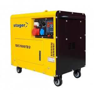 Generator insonorizat Stager YDE7000TD3, diesel, trifazat [1]