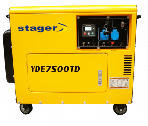 Generator insonorizat Stager YDE7500TD, diesel, monofazat0