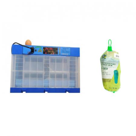 Pachet incubator automat Micul Fermier cu 2 etaje 128 oua gaina cu plasa protectie anti-pasari 4m x 6m [0]