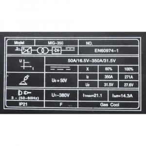 Invertor MIG/MAG + MMA, ProWeld MIG-350. Derulator extern. [5]