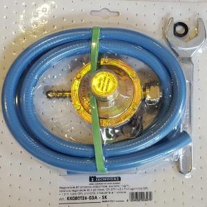Kit regulator gaz GPL 1/2 cu furtun si coliere